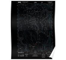 USGS Topo Map Oregon Flag Prairie 20110801 TM Inverted Poster