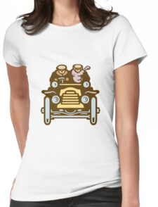 Vintage Traveller Womens Fitted T-Shirt