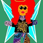 Little Rock n Roll Angel Rag Doll Wearing Mommy's Clothes 4 by Deborah Lazarus