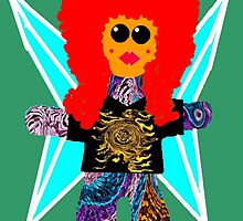 Little Rock n Roll Angel Rag Doll Wearing Mommy's Clothes 4 by Deborah Lazarus