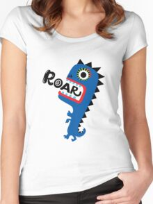 Roar Monster Women's Fitted Scoop T-Shirt
