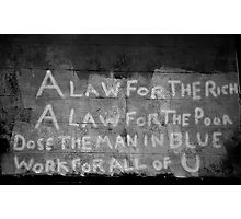 A Law For the Rich Photographic Print