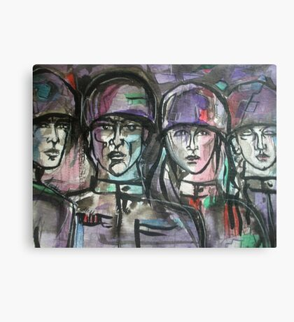Faces of Soldiers Canvas Print