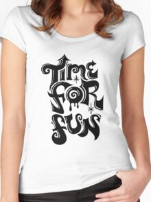 Time for fun - on lights Women's Fitted Scoop T-Shirt