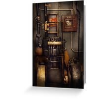 Steampunk - Back in the engine room Greeting Card