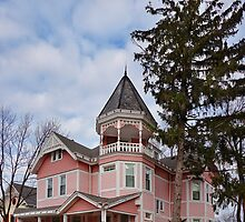 House - Victorian - Flemington, NJ - The Pink Lady by Mike  Savad