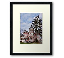 House - Victorian - Flemington, NJ - The Pink Lady Framed Print