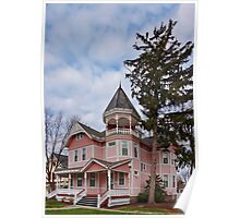 House - Victorian - Flemington, NJ - The Pink Lady Poster