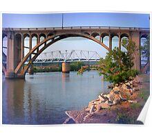 Coosa River and Bridges Poster