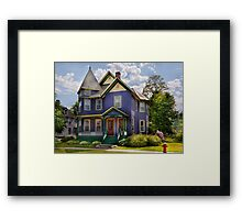 House - Victorian - Waterbury,VT - There lived an old lady who lived in a house Framed Print