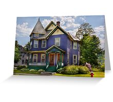 House - Victorian - Waterbury,VT - There lived an old lady who lived in a house Greeting Card