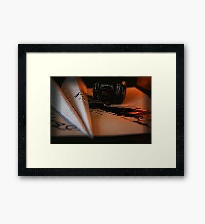 Paper Aeroplane Framed Print