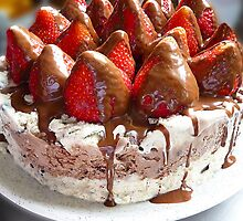 Ice Cream Cake With Strawberries by PollyBrown