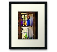 Pharmacy - Colorful glassware  Framed Print