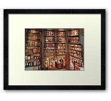 Pharmacy - Get me that bottle on the second shelf Framed Print