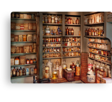 Pharmacy - Get me that bottle on the second shelf Canvas Print