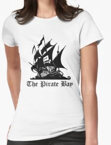 the pirate bay ship Womens Fitted T-Shirt
