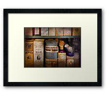 Pharmacy - Oils and Balms Framed Print