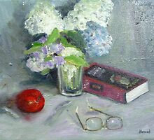 Glasses and Book Still Life by Richard Nowak