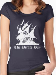 the pirate bay ship Women's Fitted Scoop T-Shirt