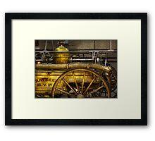 Fireman - Piano Engine - 1855  Framed Print