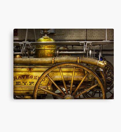 Fireman - Piano Engine - 1855  Canvas Print