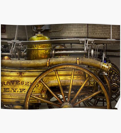 Fireman - Piano Engine - 1855  Poster