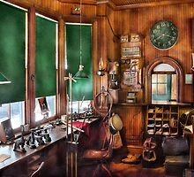 Train - The stationmasters office  by Mike  Savad
