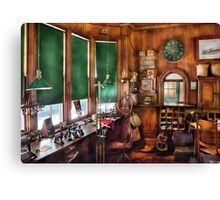 Train - The stationmasters office  Canvas Print