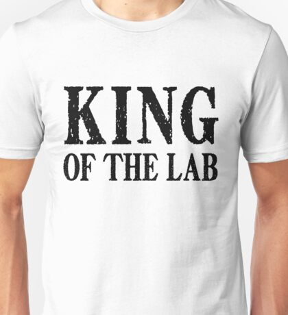 King of the Lab - Black Text Unisex T-Shirt