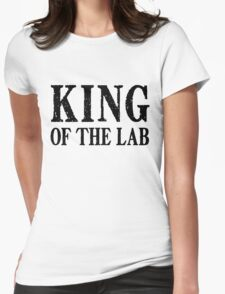King of the Lab - Black Text Womens Fitted T-Shirt