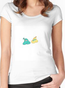 Colorful beautiful shapes for good mood Women's Fitted Scoop T-Shirt
