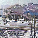 Boats Resting at Harbor by Richard Nowak