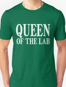 Queen of the Lab - White Text T-Shirt