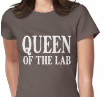 Queen of the Lab - White Text Womens Fitted T-Shirt