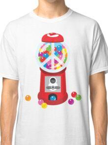 Bubble Gum Machine Peace Sign Classic T-Shirt