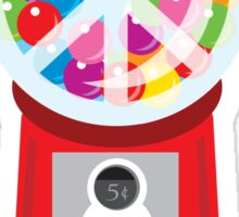 Bubble Gum Machine Peace Sign Sticker