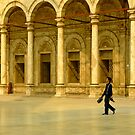 Walking by the arches. Muhammed Ali Pasha Mosque, Egypt by Fineli