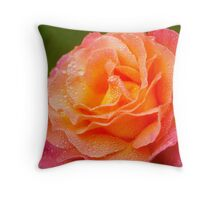 A Rose in the  Morning Throw Pillow