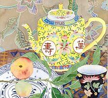 Tea and peaches by Gabby Malpas