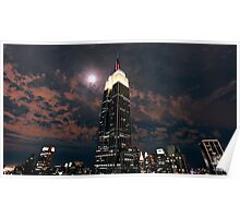 Empire state super moon Poster