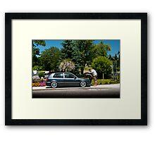 Grey Looker Framed Print