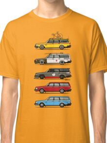 Stack of Volvo 200 Series 245 Wagons Classic T-Shirt