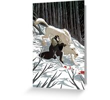 Jon Snow and Ghost #GoT Greeting Card