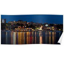 Hot Summer Night in Burlington Harbor - GigaPan Poster