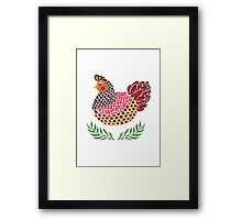 The Brown Hen Framed Print