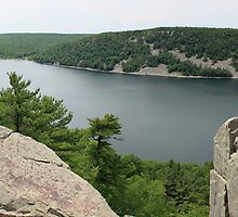 East Bluff Trail of Devils Lake Wisconsin by Marija