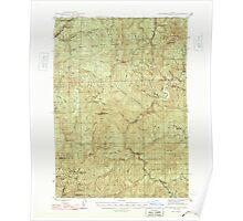 USGS Topo Map Oregon Dutchman Butte 282438 1948 62500 Poster