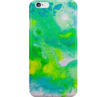 Where the Yellow Meets the Blue Abstract iPhone Case/Skin