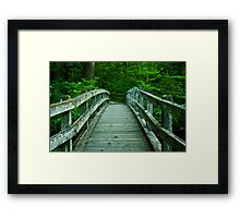 Bridge Over Silver Creek Framed Print